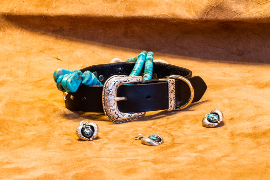 Zuni and Navajo Turquoise and Silver Big Bad Collars (5)