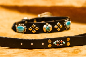 Zuni and Navajo Turquoise and Silver Big Bad Collars (7)