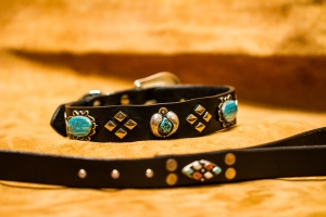 Zuni and Navajo Turquoise and Silver Big Bad Collars (8)